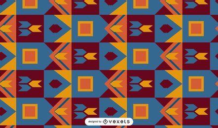 Desenho de padrão colorido Kente