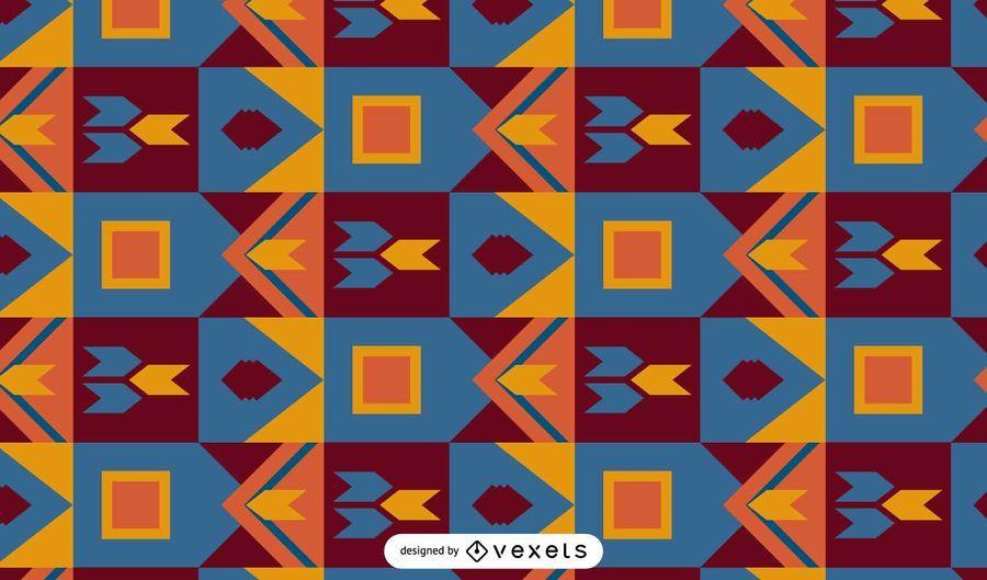 Kente colorful pattern design