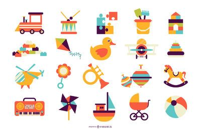 Colección de vectores de juguetes