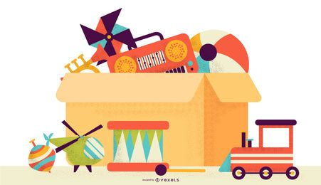 Toys colorful illustration