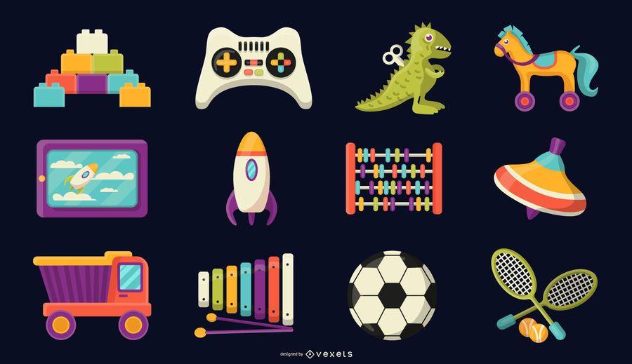 Colección de vectores de juguetes para niños