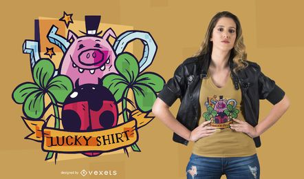 Diseño de camiseta Lucky Symbols