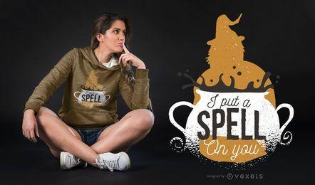 Design de t-shirt de letras de bruxas