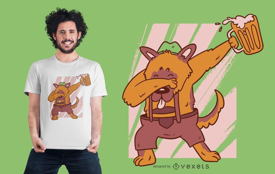 Design Dabbing do t-shirt do pastor alemão