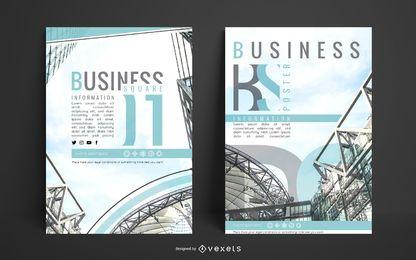 Design de cartaz de negócios de arquitetura