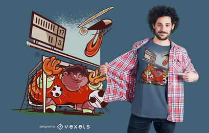 Diseño divertido de camiseta de portero