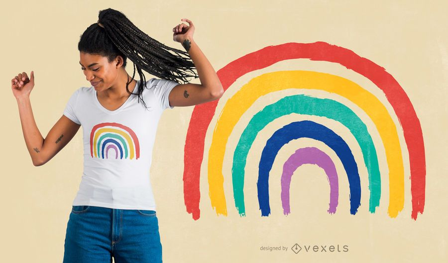 Design de camiseta infantil arco-íris