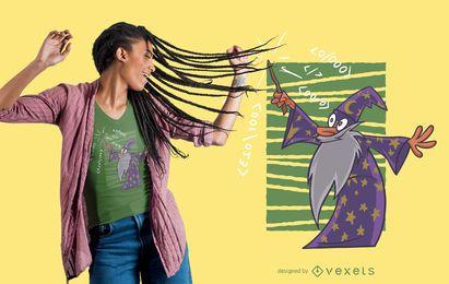 Design do t-shirt do mágico do código