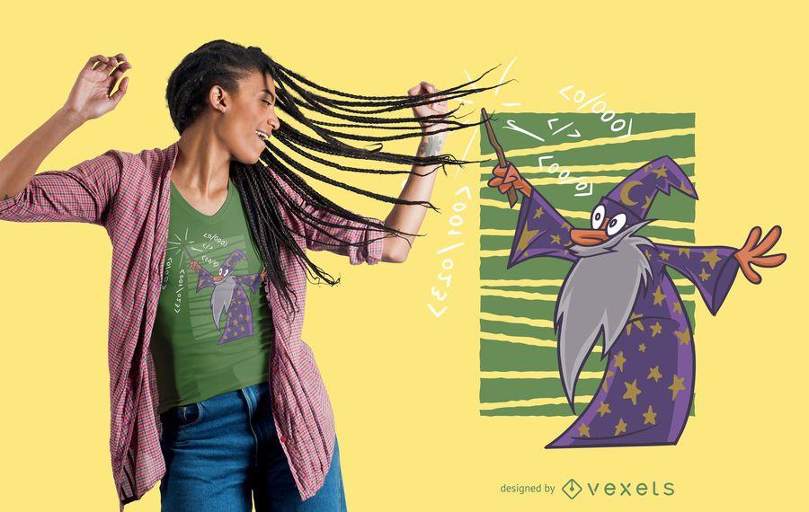 Design de t-shirt de código mágico