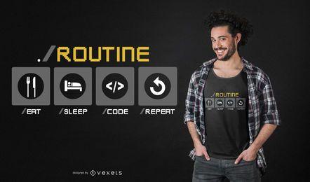 Diseño de camiseta de desarrollador divertido