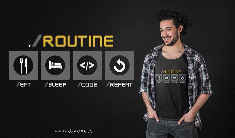 Diseño divertido de la camiseta del desarrollador