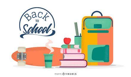 Back To School Illustration Design