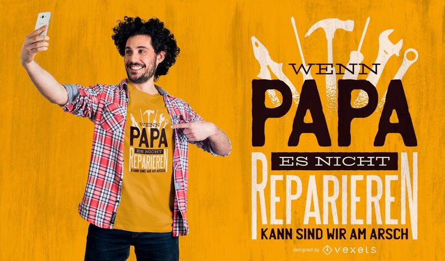 Papa Fix It T-Shirt Design