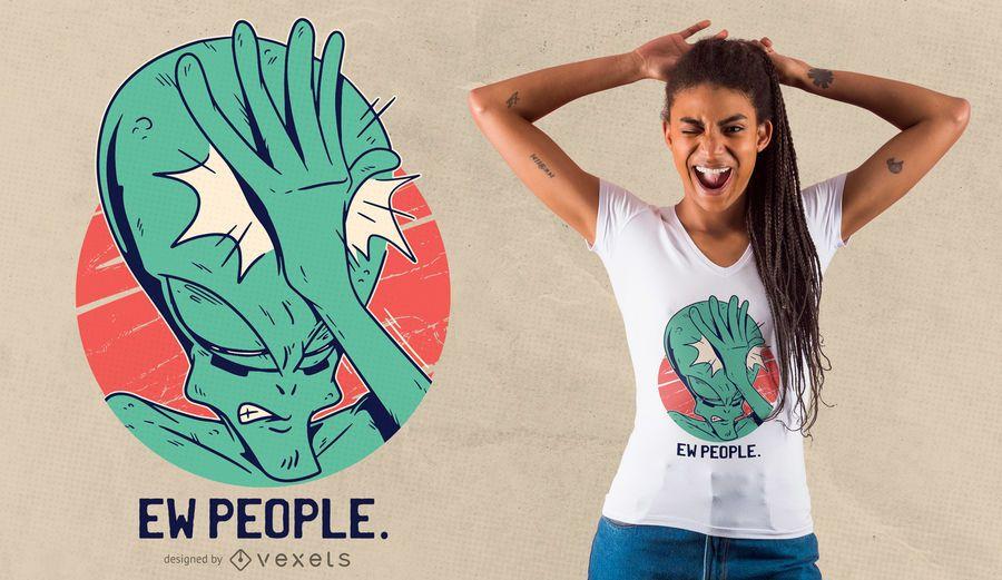 Alien Facepalm T-shirt Design