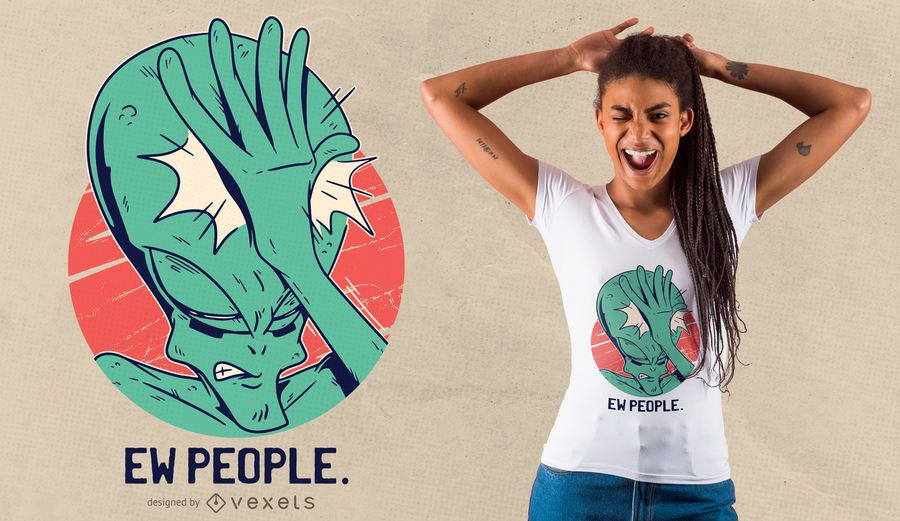 Design estrangeiro do t-shirt de Facepalm