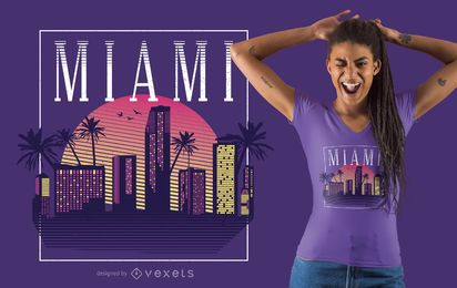 Estilo Retro Miami T-shirt Design