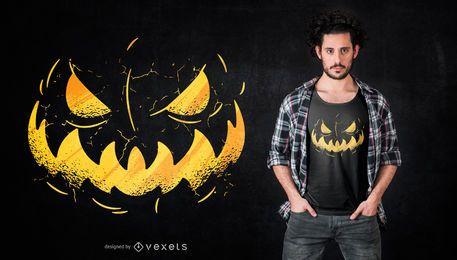 Projeto do t-shirt da cara de Jack o'Lantern