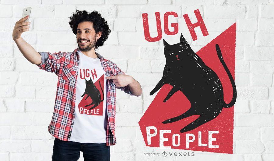 Diseño de camiseta de gente ugh