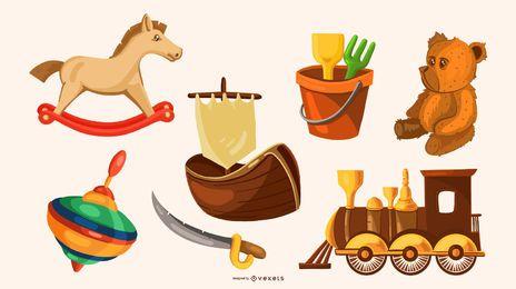 Paquete de diseño de ilustración de juguete