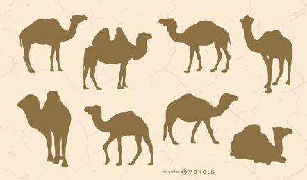 Conjunto de silhueta de camelo