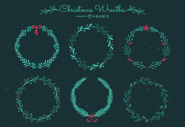 Christmas frames set