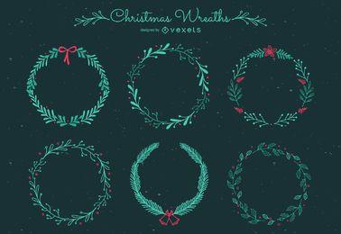 Conjunto de marcos navideños