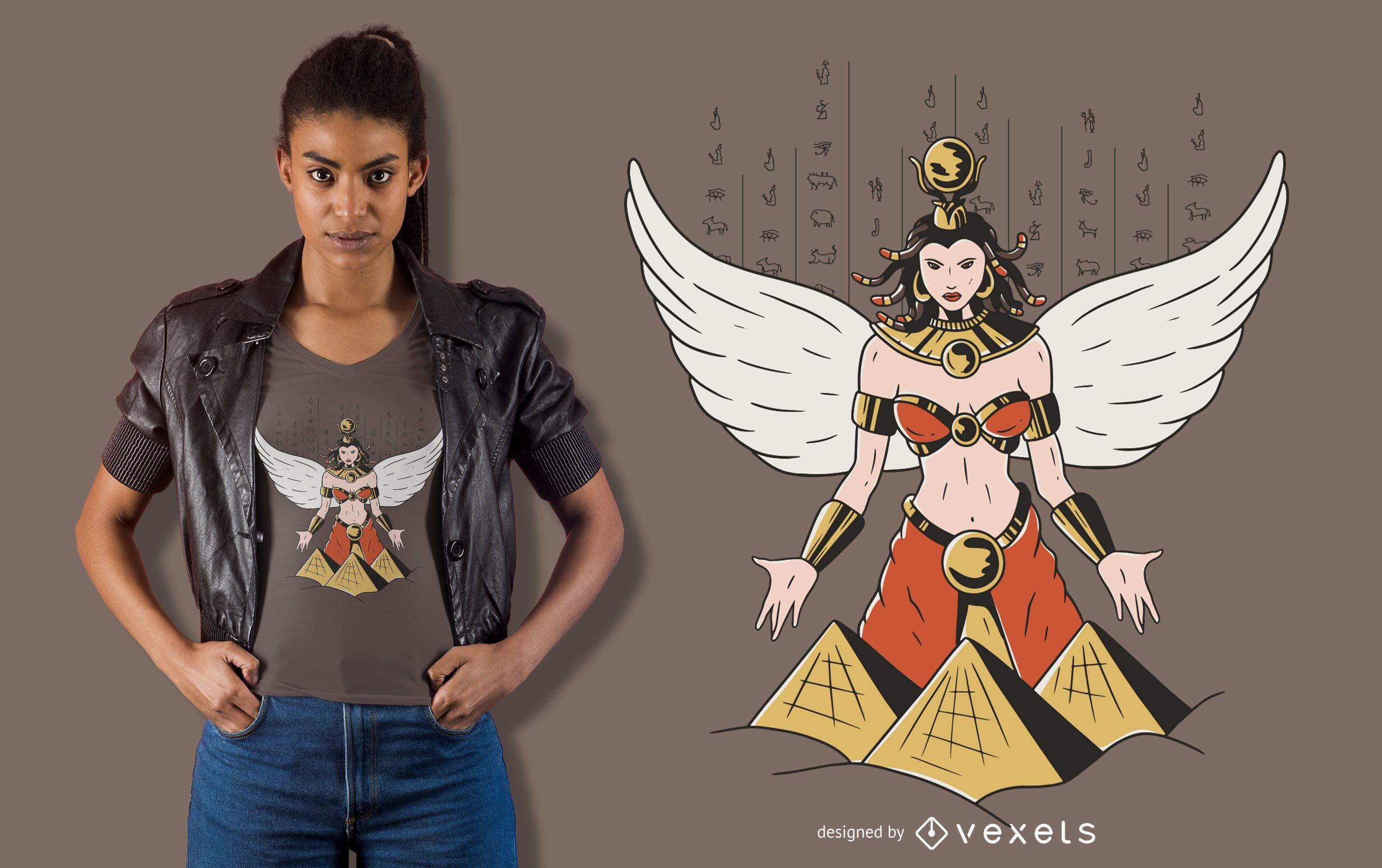 Diseño de camiseta de la diosa Isis