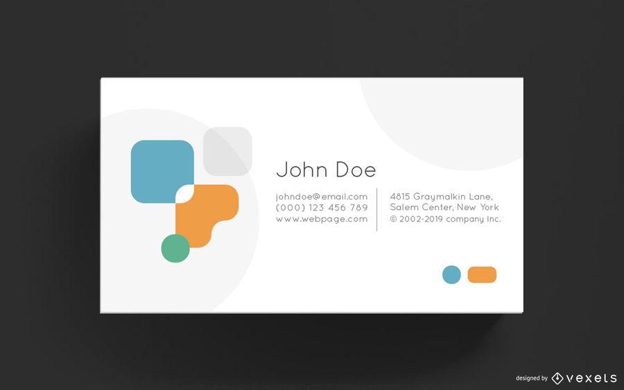 Plantilla de tarjeta de visita - elementos abstractos