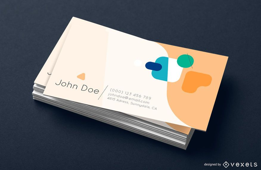 Business card design abstract shapes
