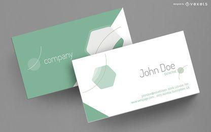 Design elegante de cartão de visita