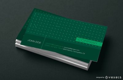 Business card dots design
