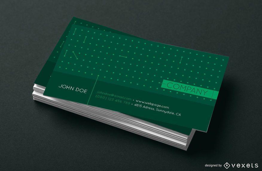 Diseño de puntos de tarjeta de visita