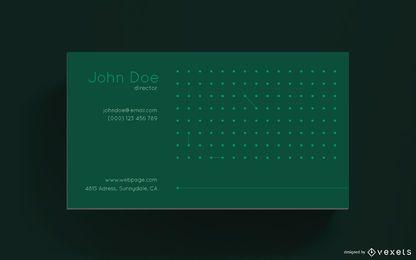 Design de cartão de visita simples