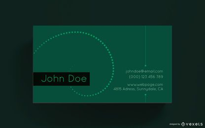 Business card simple design