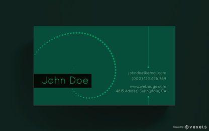 Visitenkarte übersichtliches Design