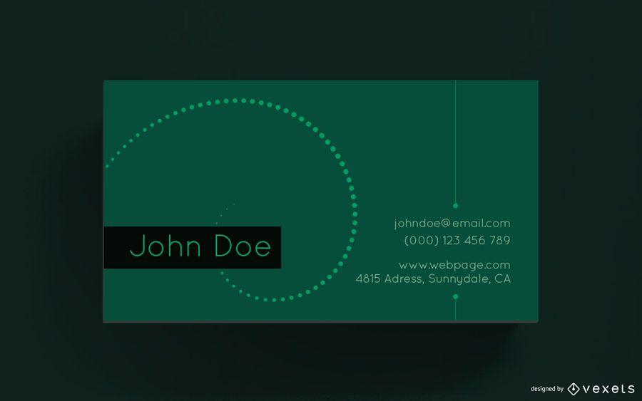 Business card simple design