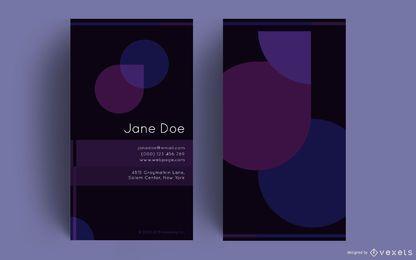 Abstrakter lila Entwurf der Visitenkarte