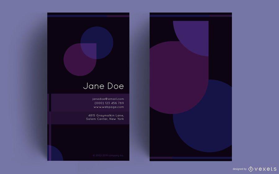 Cartão de visita abstrato design roxo