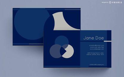 Diseño de círculos abstractos de tarjeta de visita