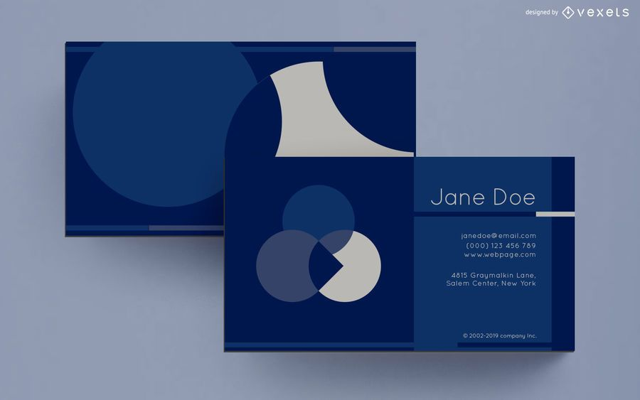Business card abstract circles design