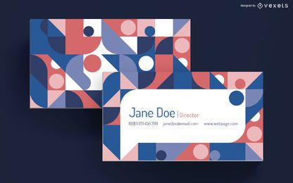 Geometric speech bubble business card
