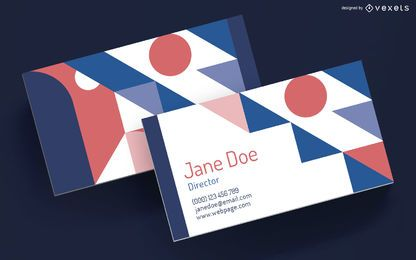 Business card geometric design