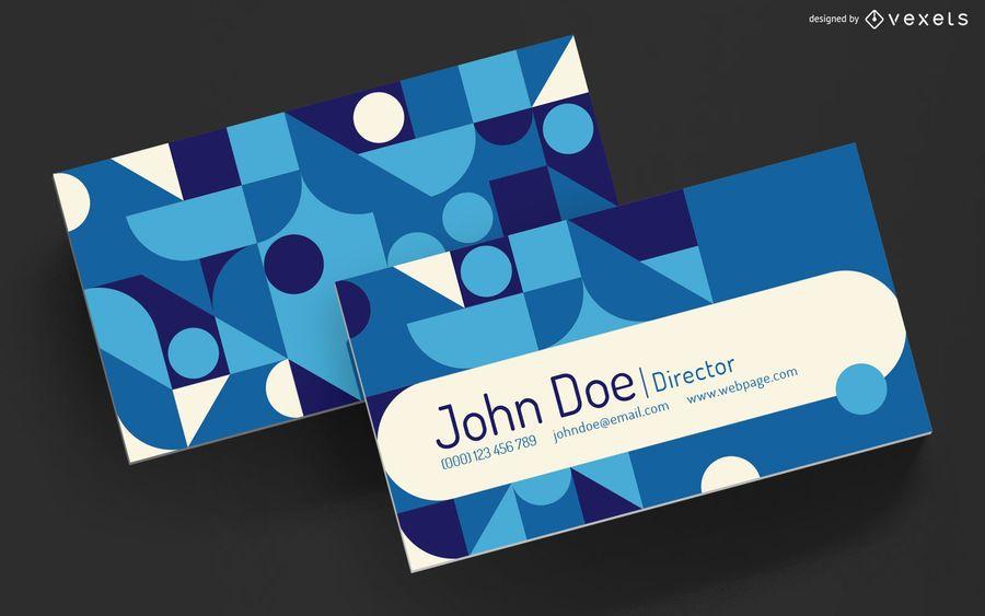 Diseño geométrico de tarjetas de visita