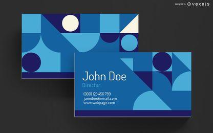 Diseño de formas geométricas de tarjetas de visita