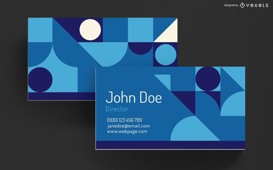 Business card geometric shapes design