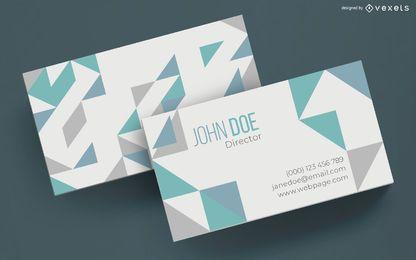 Simple geometric business card