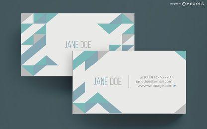 Saubere geometrische Visitenkarte