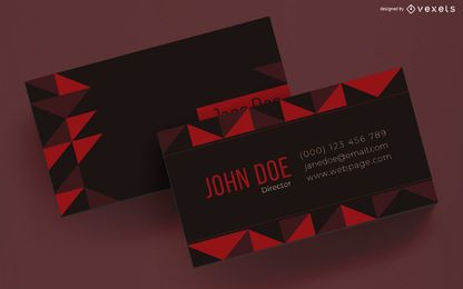 Business card design geometric triangles