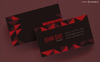 Diseño de tarjetas de visita triángulos geométricos