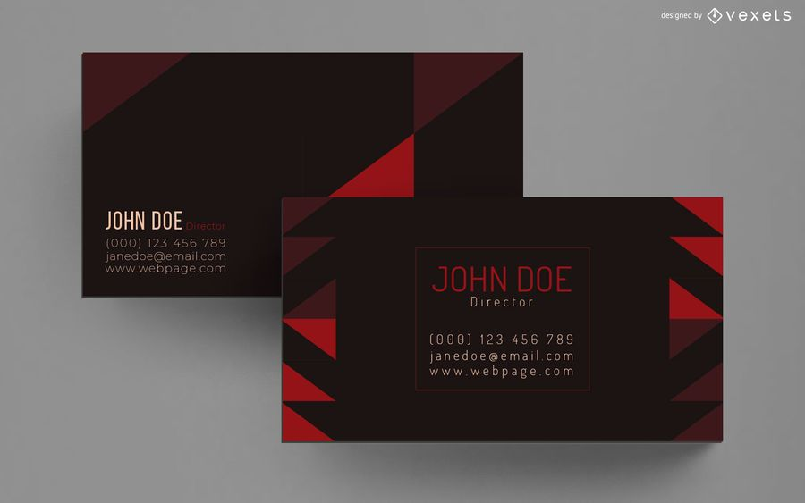 Stylish geometric business card